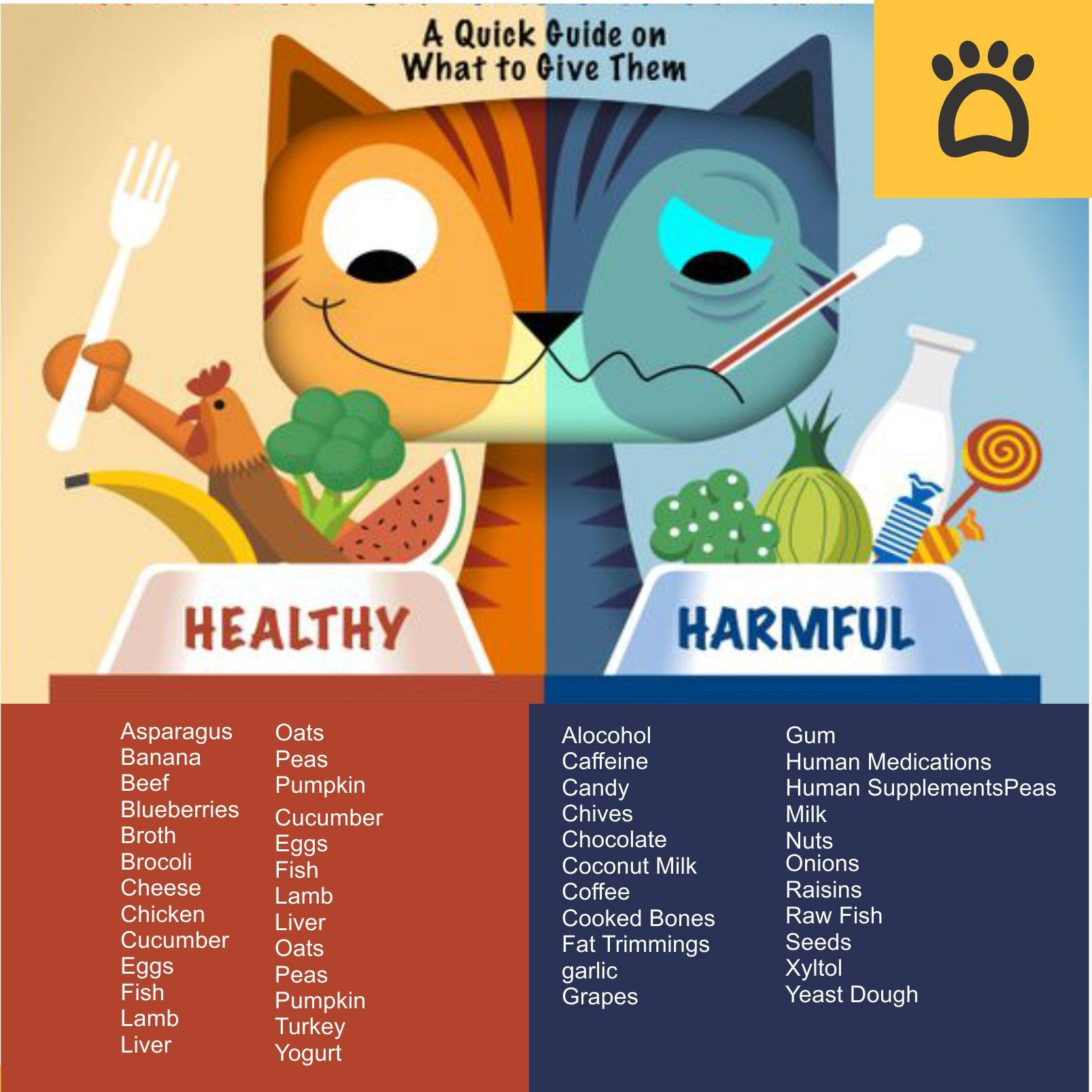 What Human Foods cats can/can't eat? Searching for a