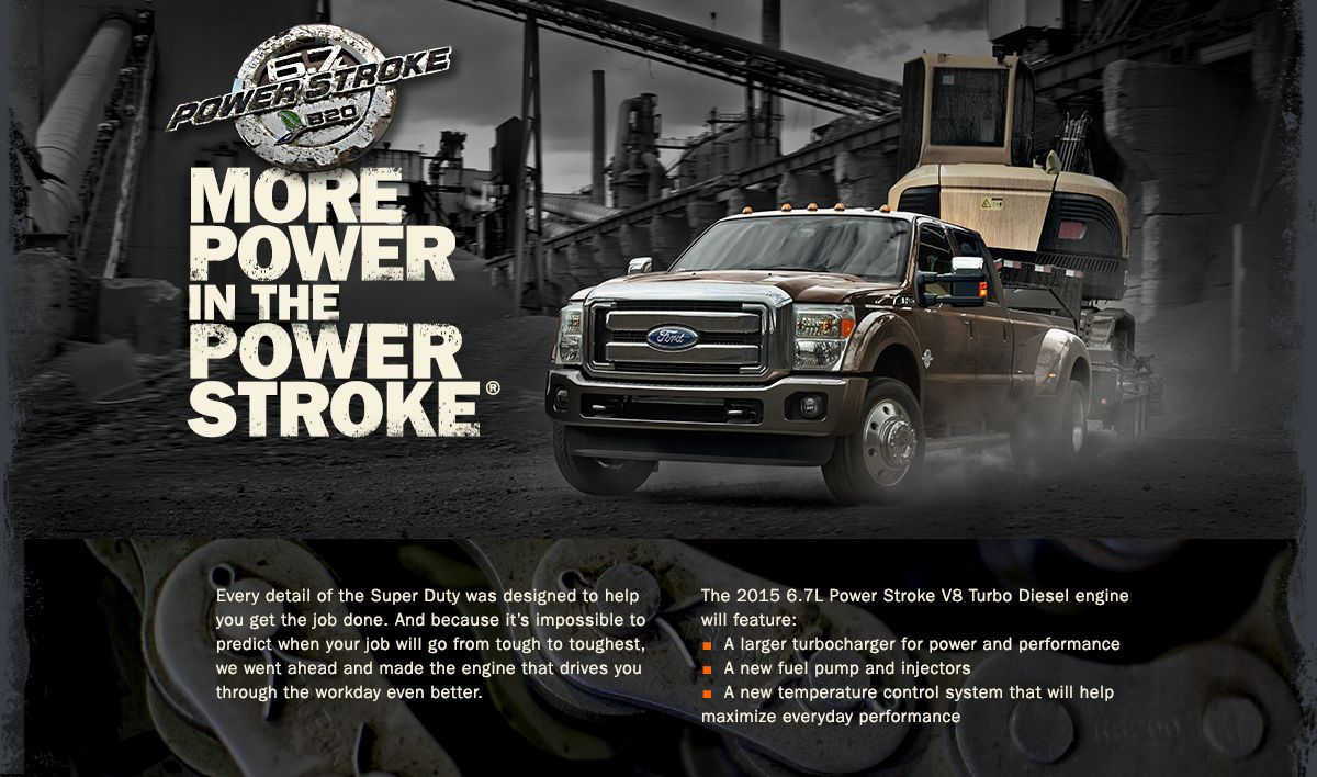 More Power in the Power Stroke! The New 2015 Super Duty