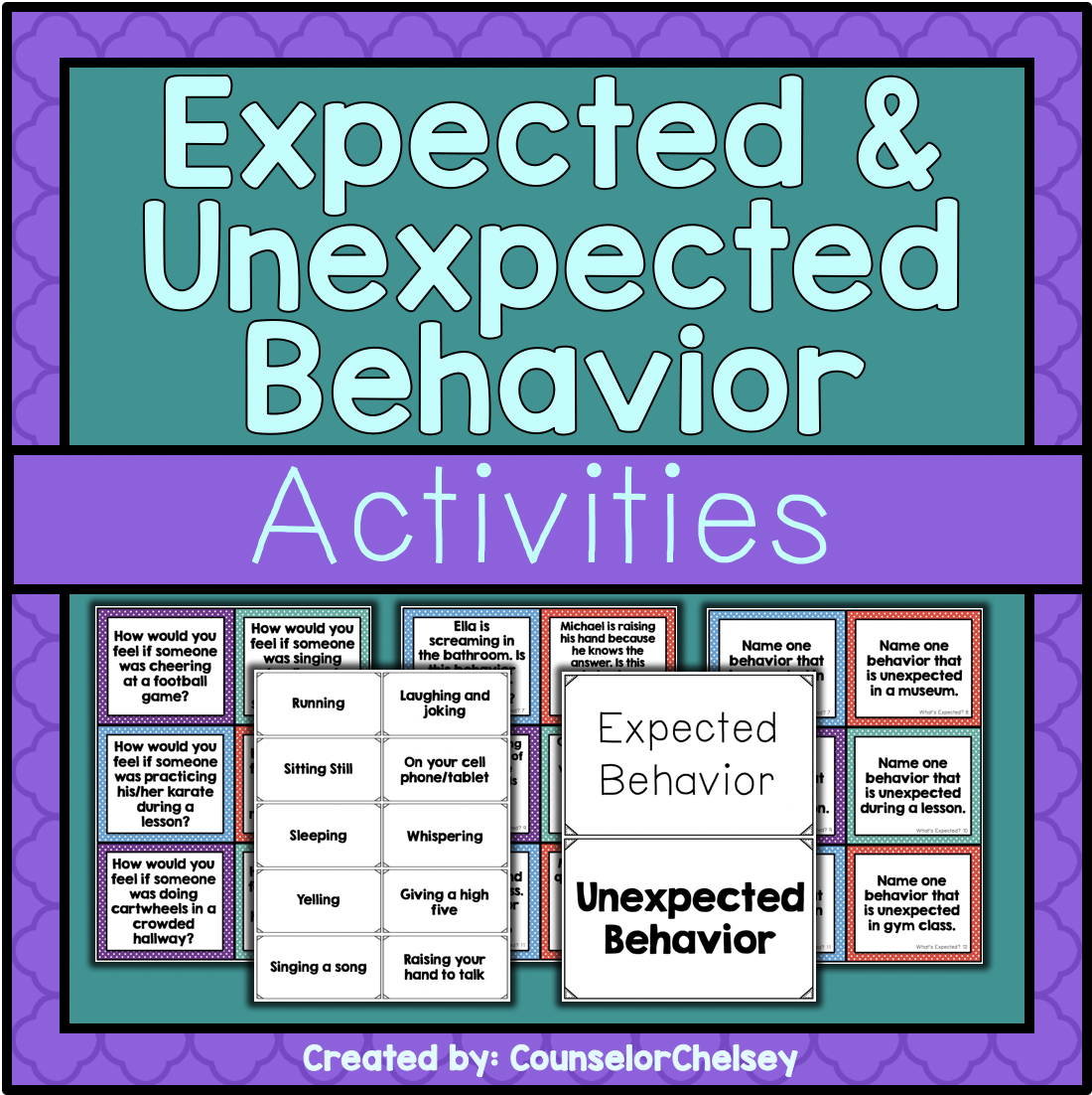 Expected And Unexpected Behavior Activities With Images