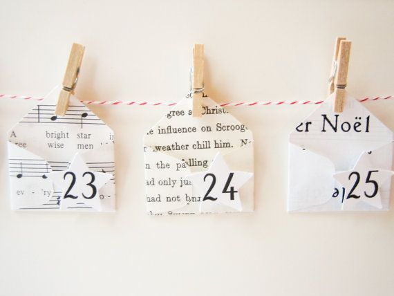 Advent Calendar Diy Kit  Create Your Own Garland With  Mini
