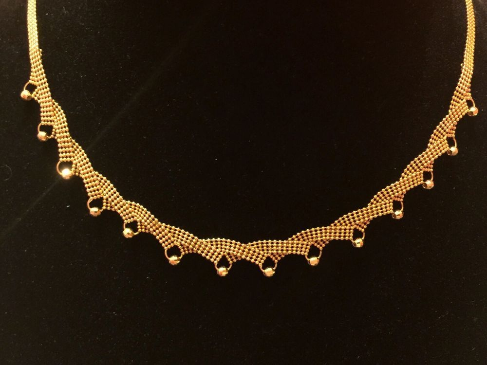 14k Gold Necklace Chocker Collar Gargantilla de Oro 14k eBay 14k