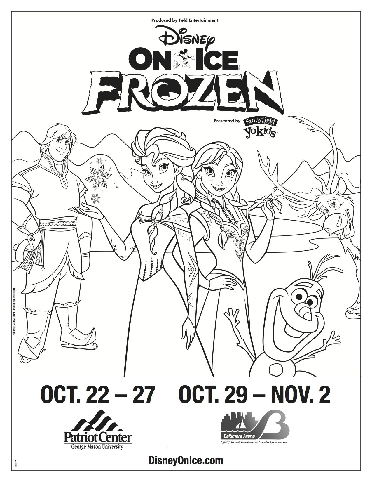 Disney On Ice Presents Frozen Enter To Win A Family 4 Pack Of Tickets Disney On Ice Coloring Pages Frozen Coloring
