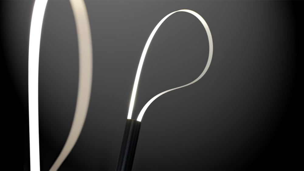 "2 of 3 illuminating loops - Detail of ""Golf"" floorlamp by karakt"