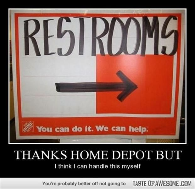 Bathroom Sign Meme 20 funny bathroom signs - #4 is a lawsuit waiting to happen