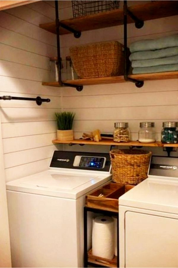 Small Laundry Room Ideas - Space Saving DIY Creative Ideas for Tiny Laundry Rooms #laundryrooms