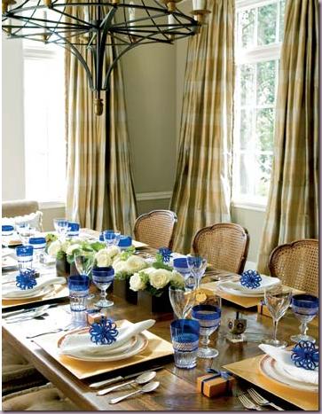 Hanukkah Table Setting tablescape