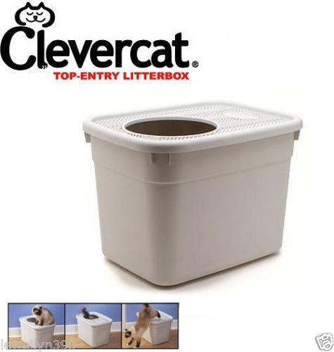 NEW-CleverCat-Innovations-Litterbox-Top-Entry-Cat-Litter-Box