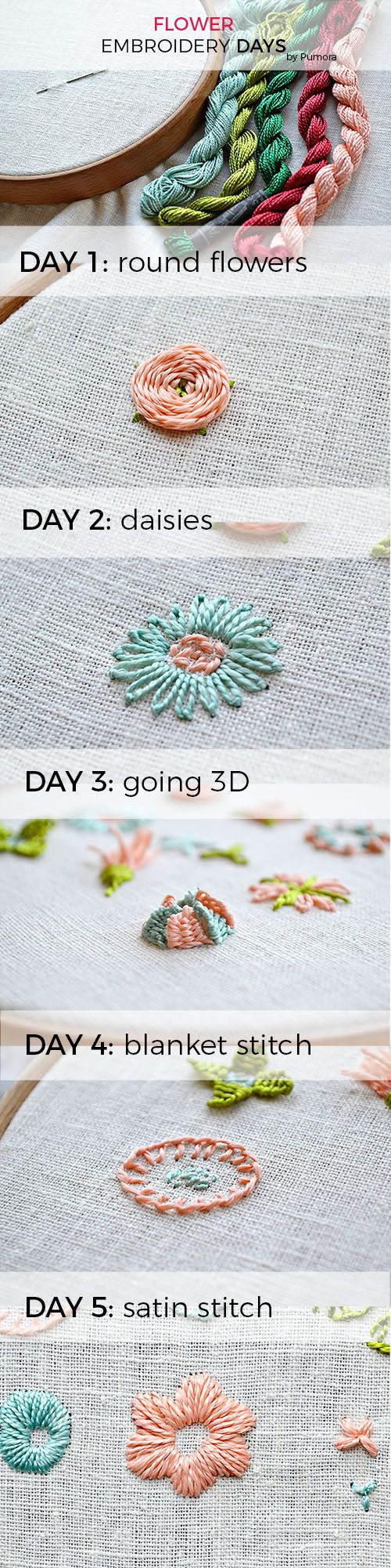 The Flower Embroidery Days Creative Pinterest Embroidery