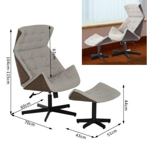 Recliner Amp Footstool Swivel Sofa Chair Modern Design