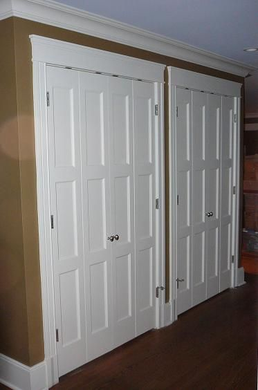 Closet Doors Wonder If You Could Glue Baton Strips Over