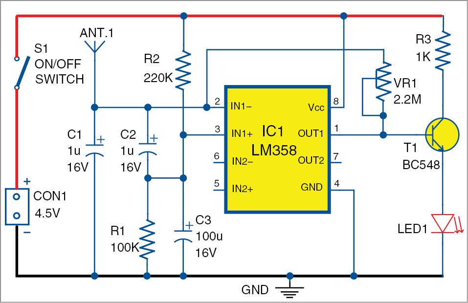 This mobile phone detector circuit can detect incoming & outgoing ...