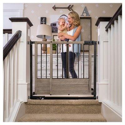 Summer Infant Rustic Home Sliding Baby Gate Bronze Wood Barnwood
