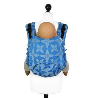 Fidella Onbuhimo back carrier Blossom - blue -https://fidella.org/en/fidella-onbuhimo-back-carrier-blossom-blue