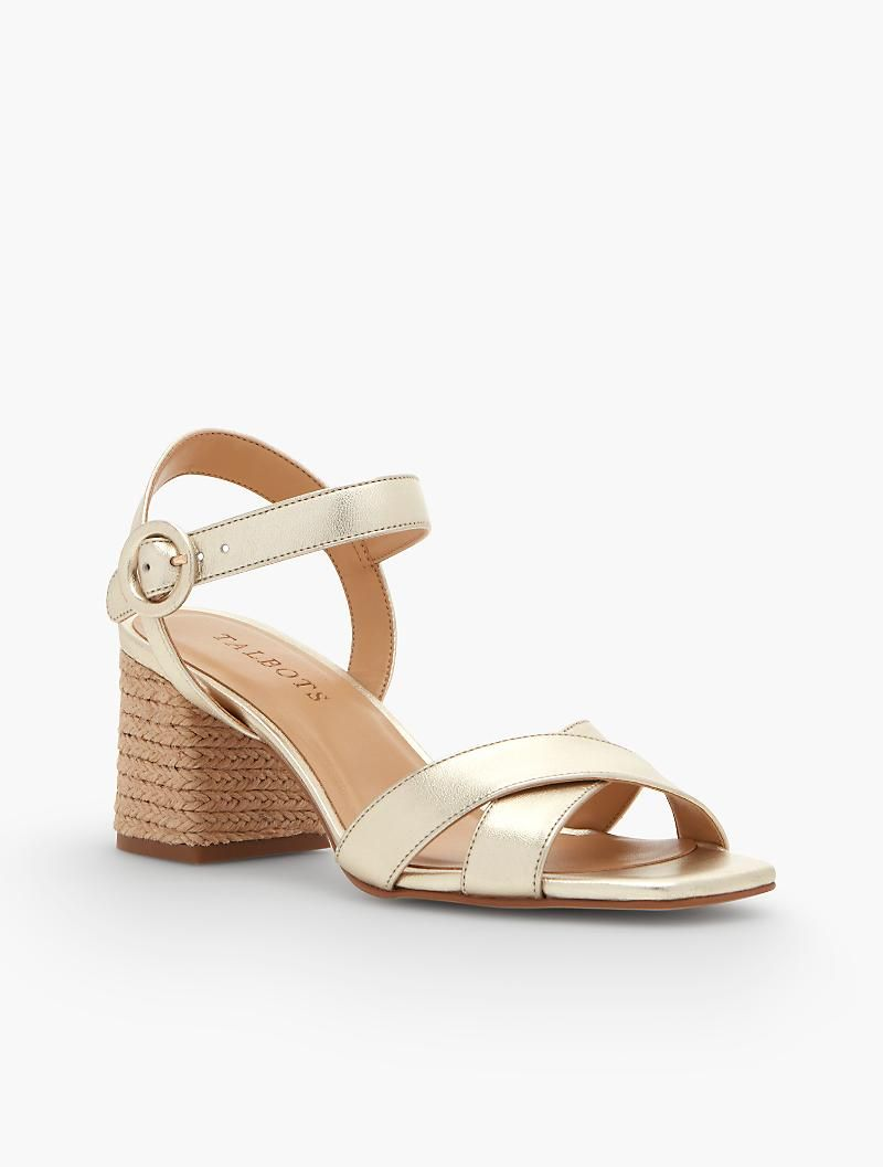 05d7c96870f Siena Rope Heel Sandal - Metallic Nappa
