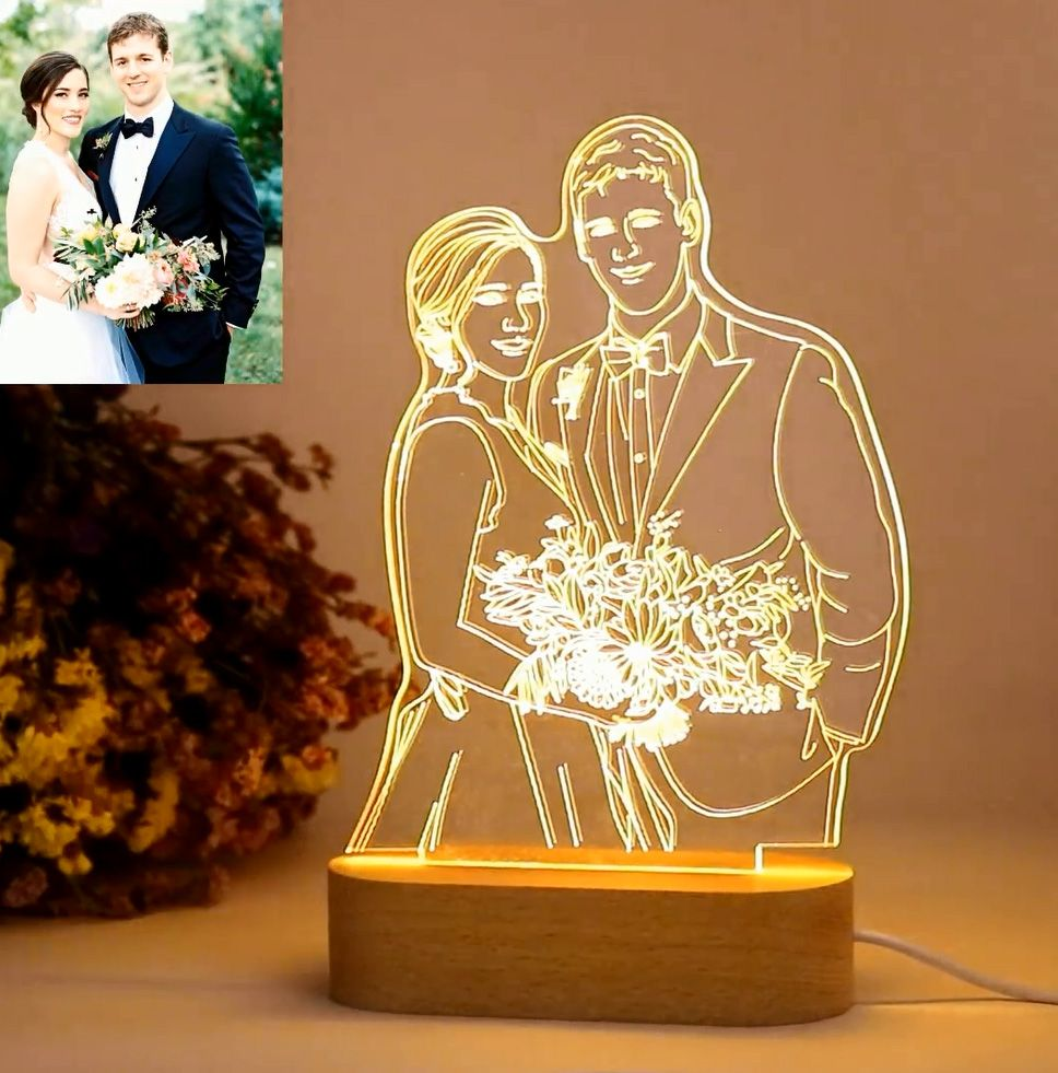 Personalized Gift Customize Your Personalized Gift Custom Photo 3d Lamp Giftcats Com Photo Lamp 3d Illusion Lamp 3d Lamp
