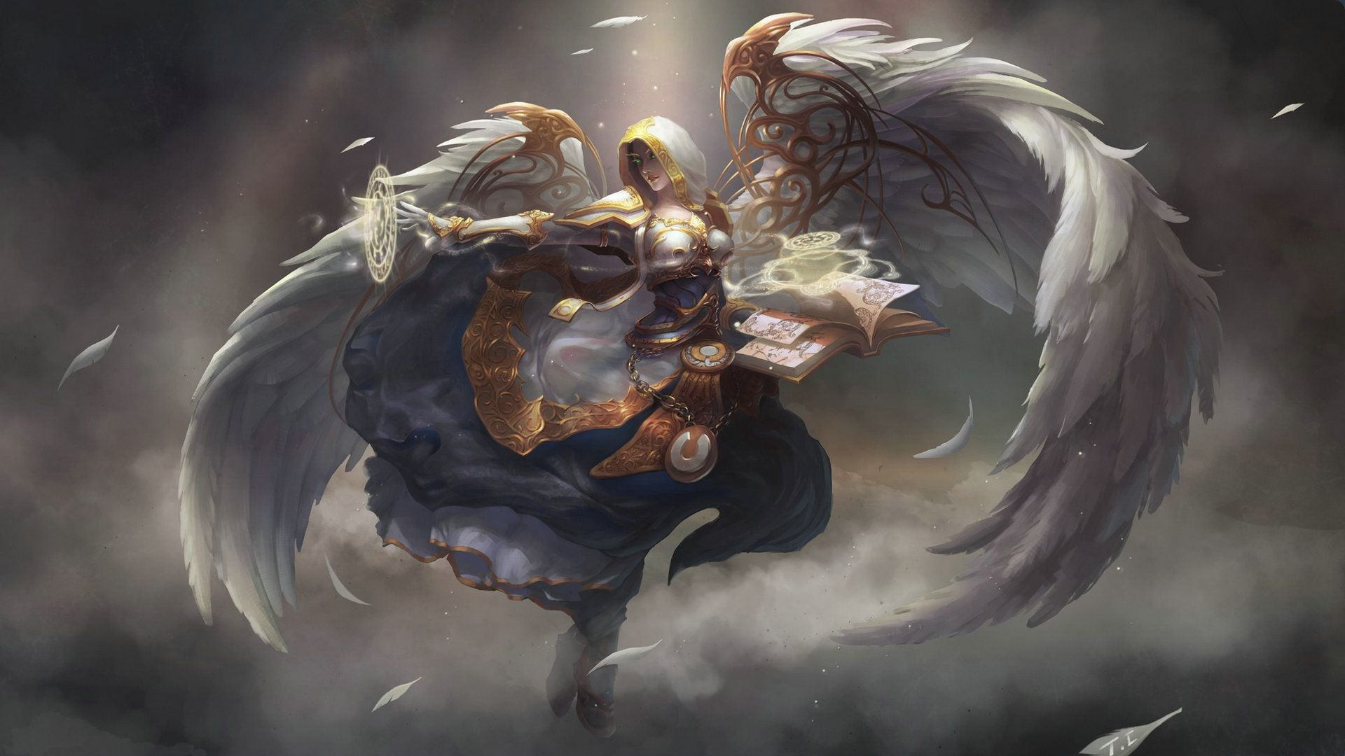 Beautiful White Wow Priest Hd Wallpaper World Of