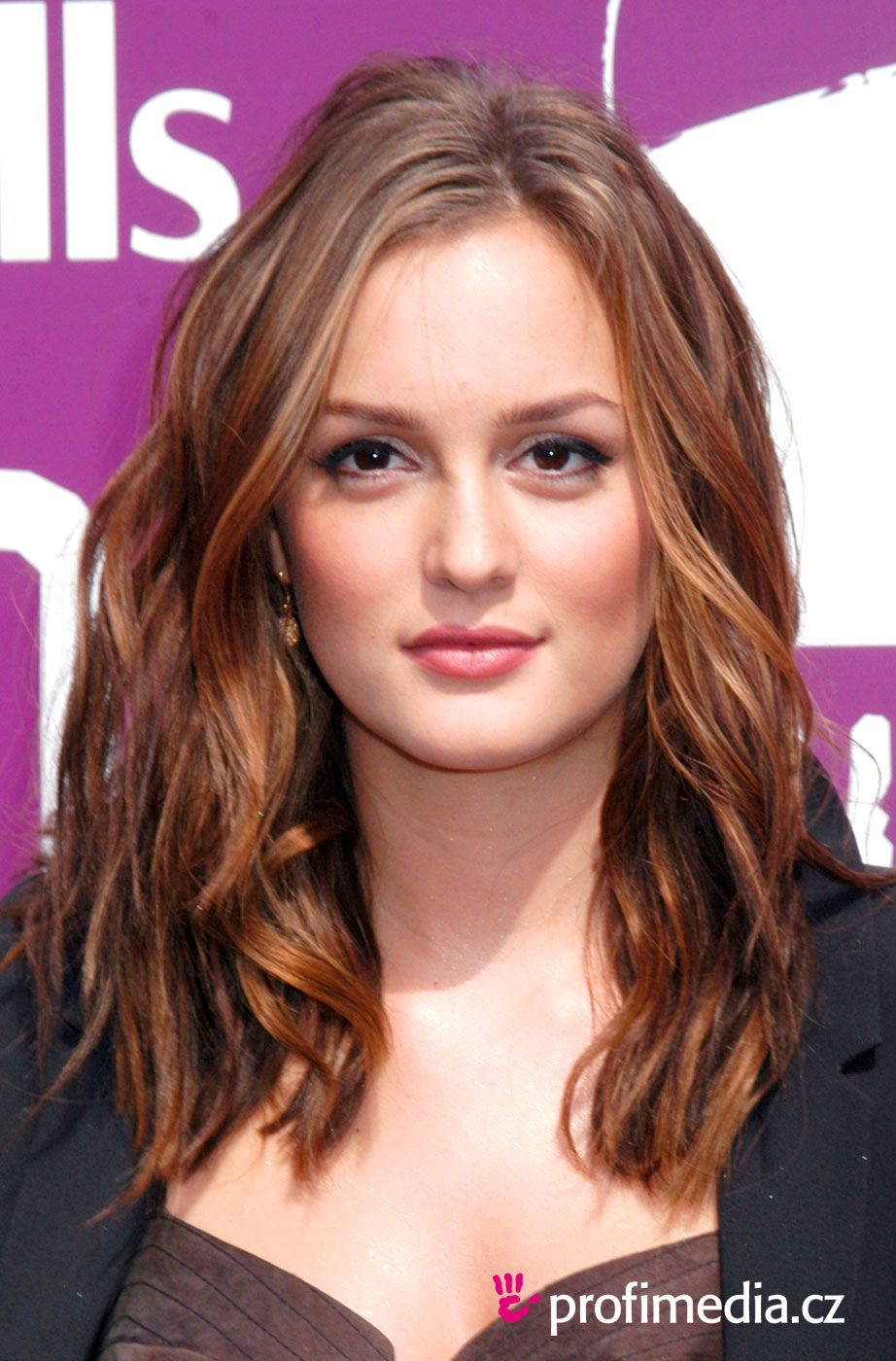 Leighton Meester Long Soft Waves Hairstyle