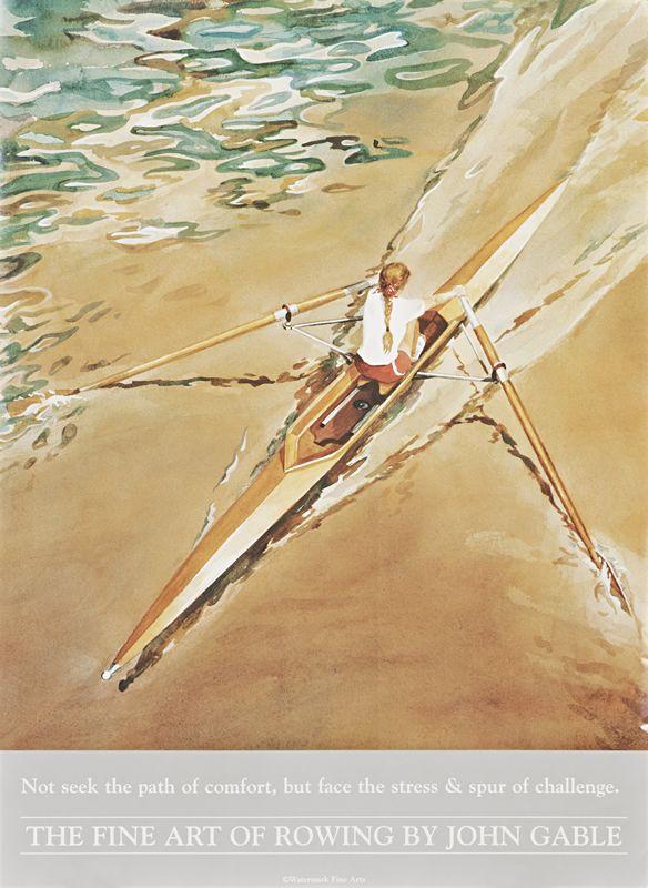 Gable, John poster: The Fine Art of Rowing by John Gable
