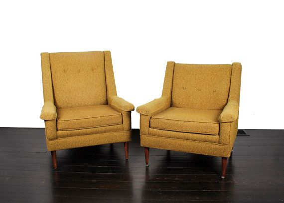 Incroyable Pair Of Vintage FlexSteel His Her Chairs. Celery By FITZandFergus, $825.00