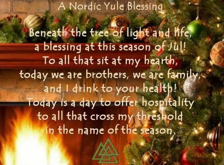 Wicca Christmas.A Nordic Yule Blessing Magickal Sabbats Yule Winter