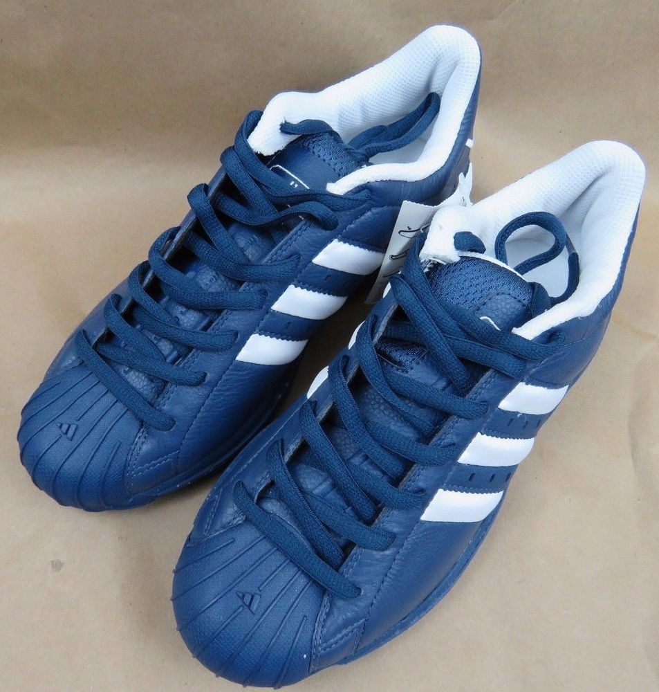 77ee7c7fbec ... usa adidas superstar 2g mens basketball shoes rare blue 669164 nib new  size 8 adidas b78a4