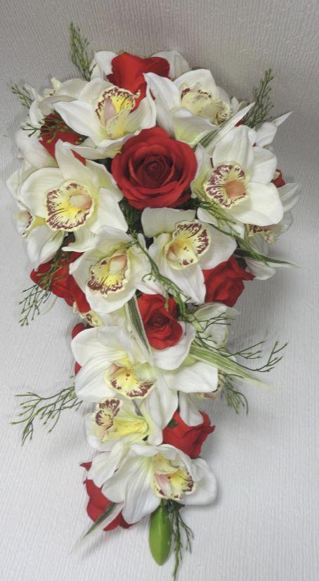 Bridal Shower Bouquets Teardrop Wedding Bouquets The Floral Touch Uk Bridal Shower Bouquet Silk Flowers Wedding Real Touch Wedding Bouquet