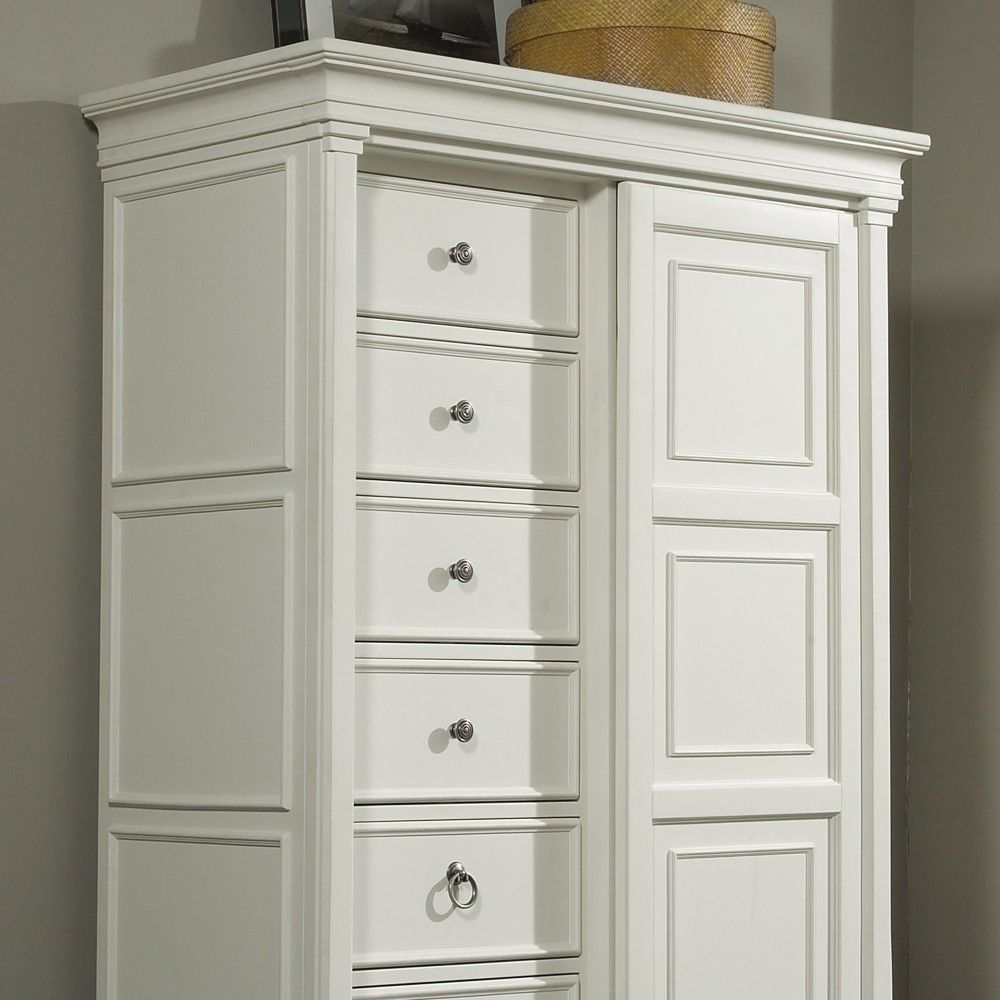 Ashby Eight Drawer Chest With Sliding Door In White Sliding Doors Chest Of Drawers Drawers