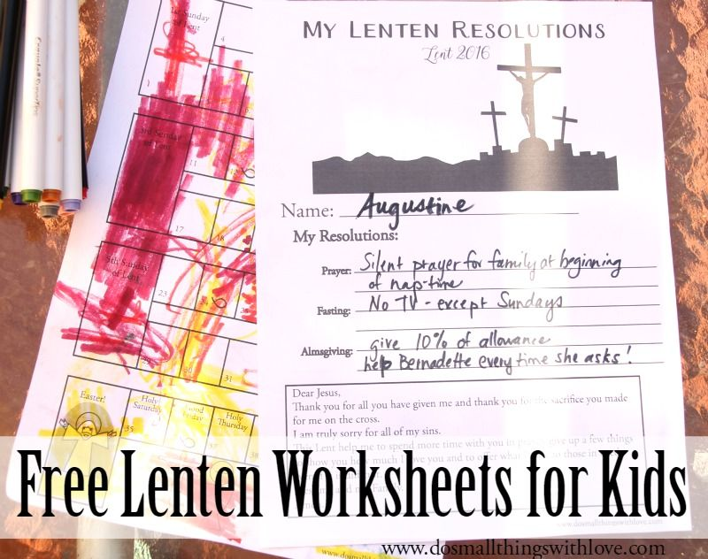 2019 Lenten Countdown Worksheet For Children Worksheets
