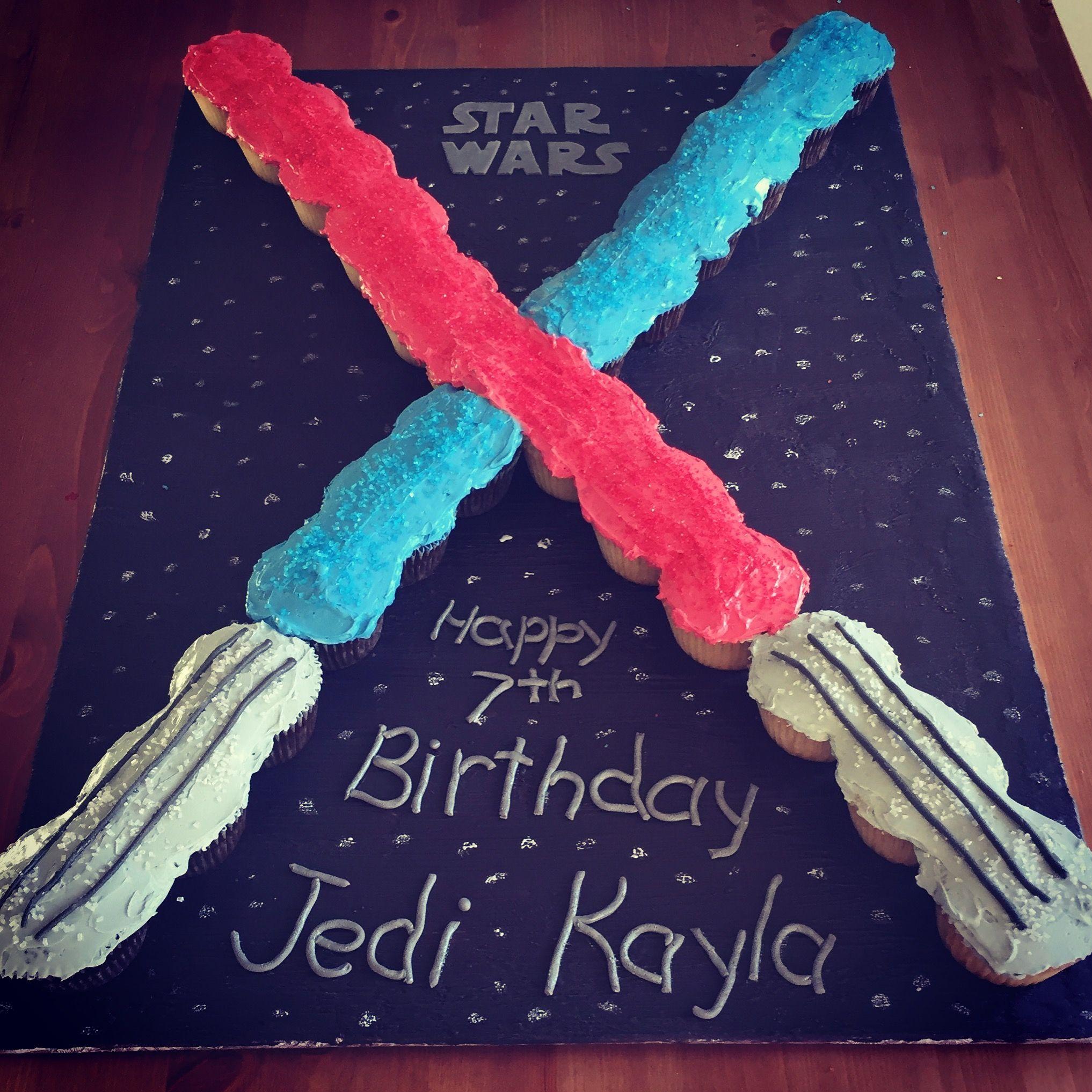 Star Wars Light Sabers Cupcake Pull Apart Cake Cupcakes
