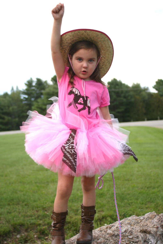 Cowgirl Horse Tutu Set Size 6-14. $45.00, via Etsy. | Halloween ...