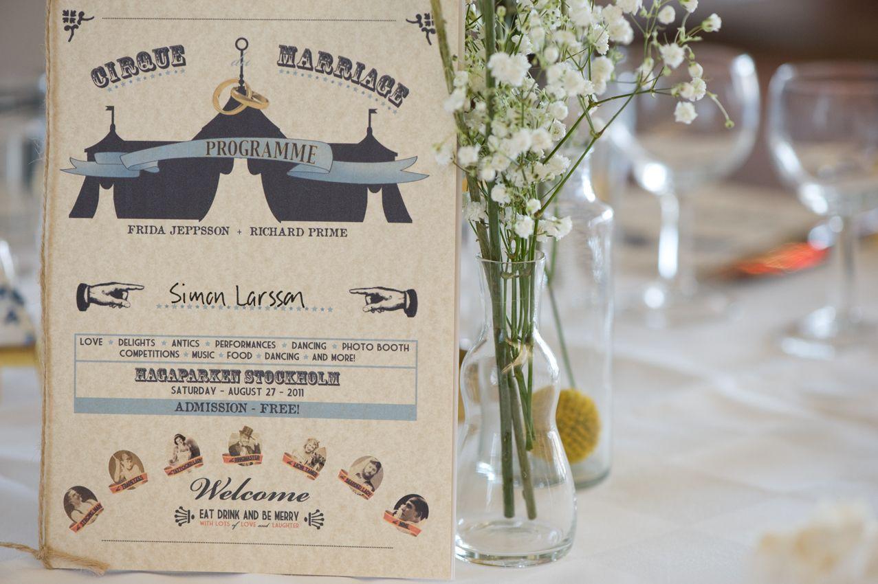 Circus wedding programme. | Set This Circus Down | Pinterest ...