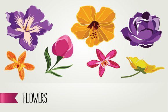 Flowers by Barcelona Design Shop on Creative Market