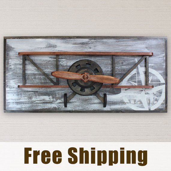 Airplane Decor Biplane Wall Art Masculine Decor Vintage Etsy Vintage Airplane Wall Art Airplane Decor Airplane Wall Art