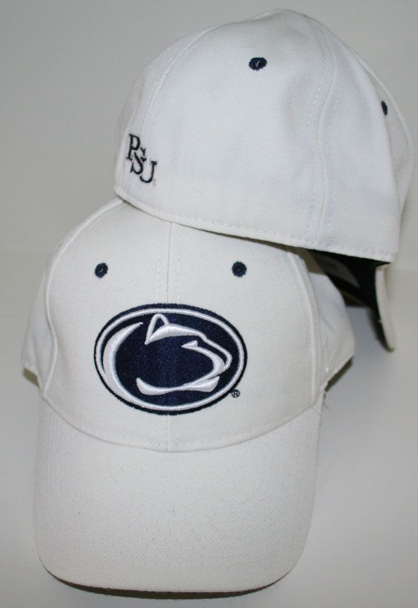 dc9600855fd Penn State Nittany Lions White DHS Fitted Hat by Zephyr