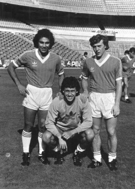 Hugo Valdano Y Butragueño Hugo Sanchez Real Madrid World Football