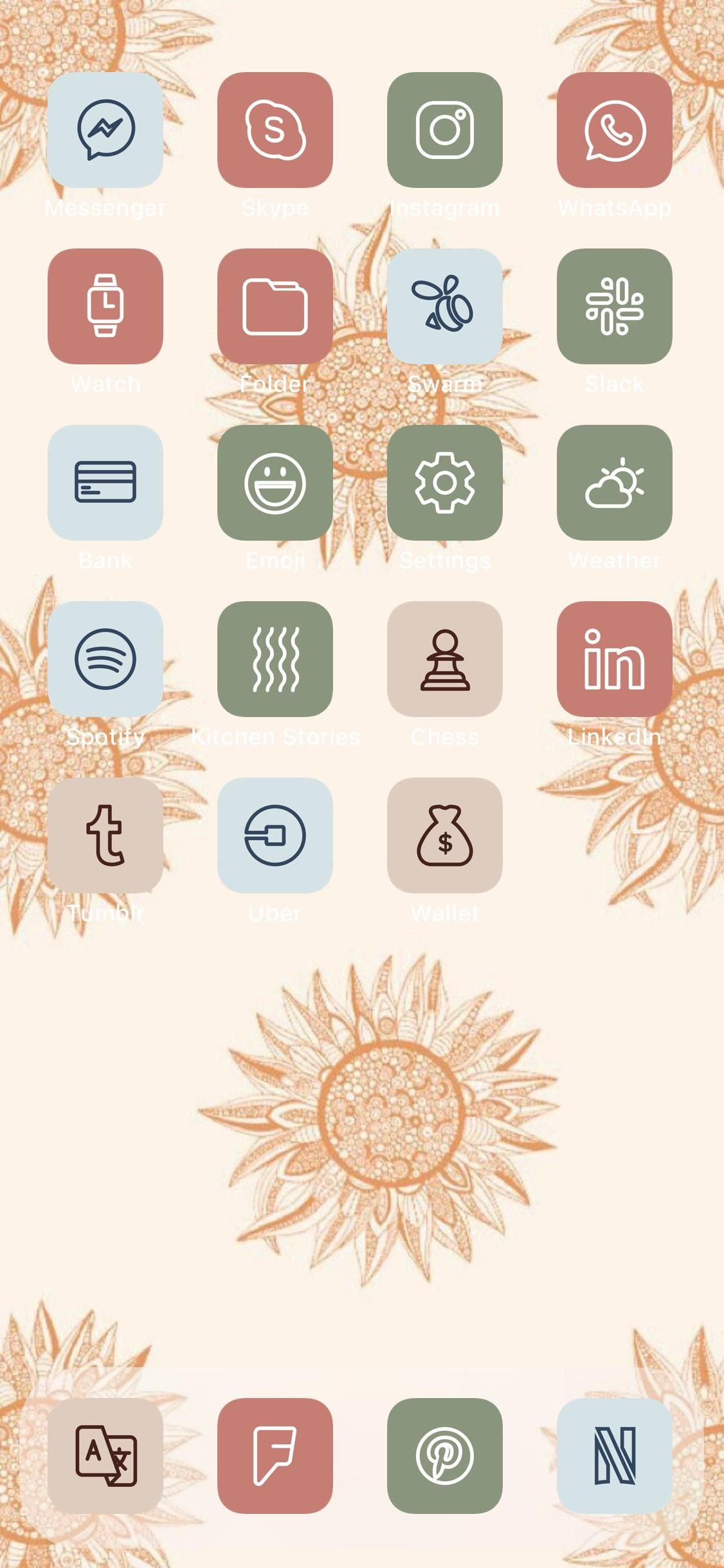 2 000 boho aesthetic ios 14 app icons pack natural