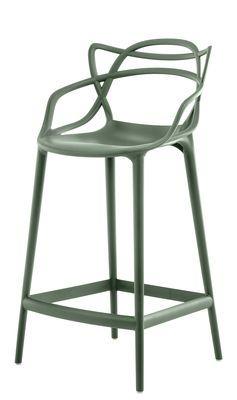 Tabouret Masters Kartell H 65 Cm Vert Sauge Made In Design Kartell Chaise Bar Et Design
