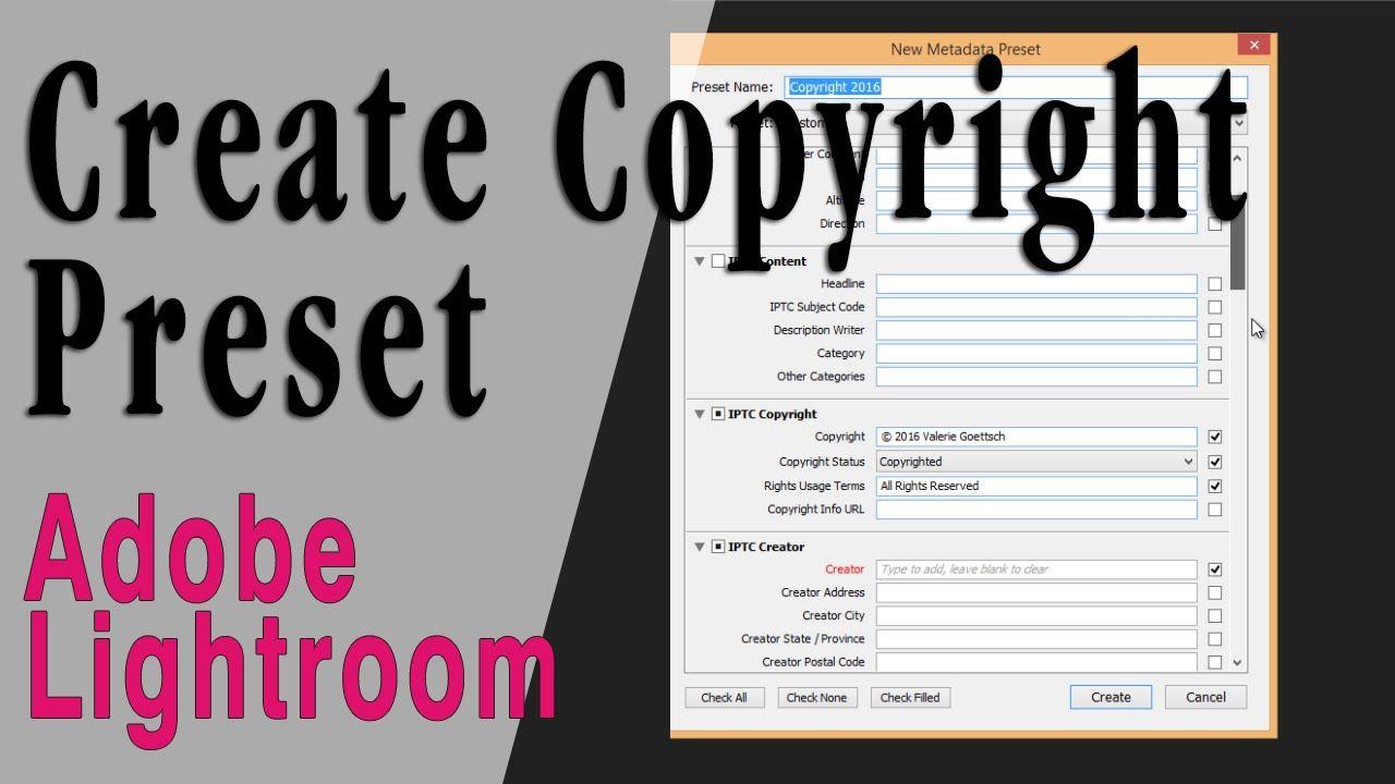 Create a copyright