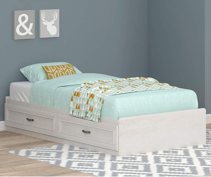 Best Magnolia Oak White Twin Mates Storage Bed Oak Bedroom 400 x 300