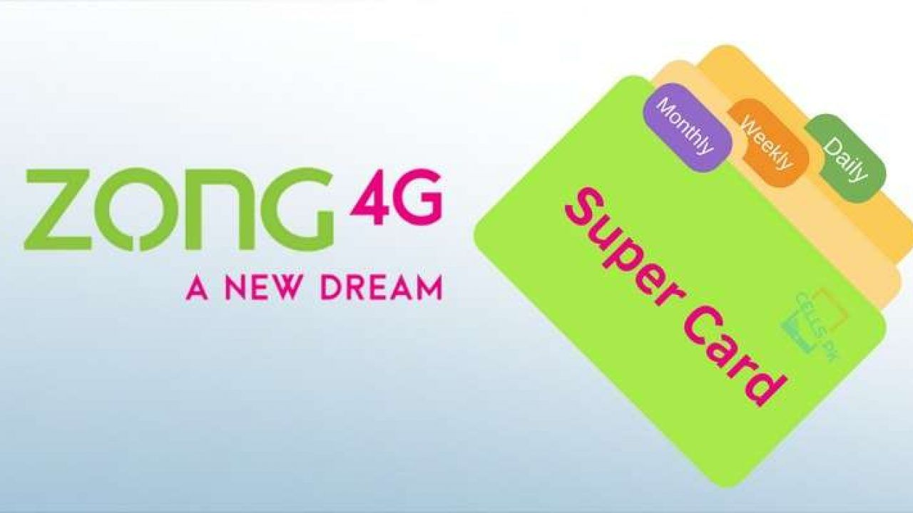 Zong Easy Card Weekly Simple Cards Cards Internet Packages