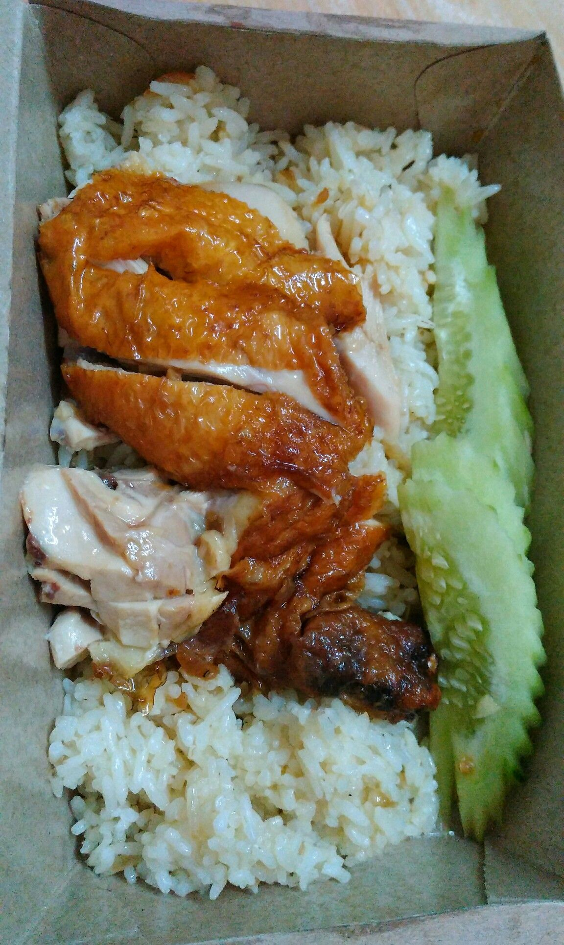 Hainanese Chicken Rice In A Take Away Box Variasi Makanan Resep Makanan Makanan