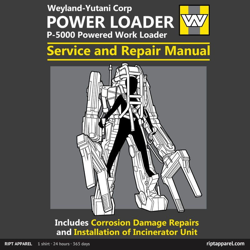 aliens p 5000 power loader service and repair manual ripley rh pinterest com Disney Characters Simple Anime Characters