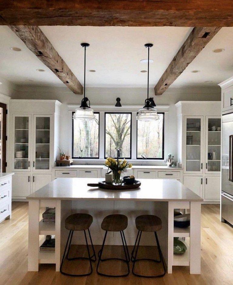 74 Elegant White Kitchen Design Ideas For Modern Home 13