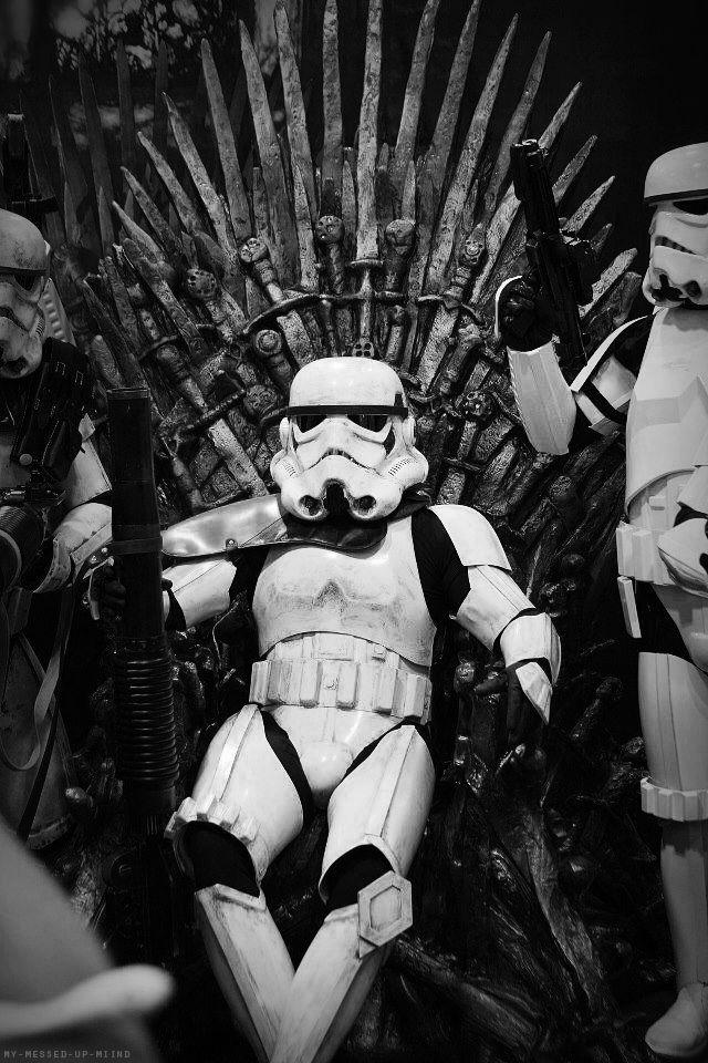 Games of thrones + #stormtrooper || #starwars || Follow http://www.pinterest.com/lcottereau/star-wars/