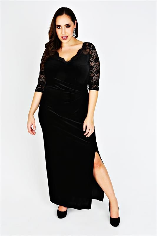 Black dress with sleeves size 14