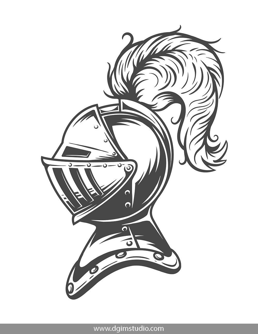 Knights Templates And Elements Knight Tattoo Armor Drawing Knights Helmet