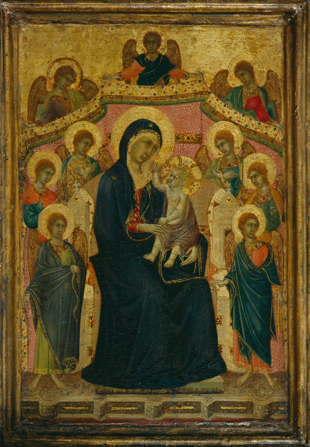 Arte Gotico Linea De Tiempo Madonna And Child With Nine Angels En 2019 Gótico Renacimiento