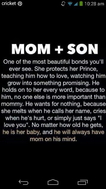 Momson A Mothers Love Pinterest Son Quotes I Love My Son
