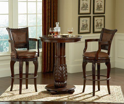 Antoinette Pub Table By Steve Silver. $524.00. Color Brown. Finish  Distressed. Finish