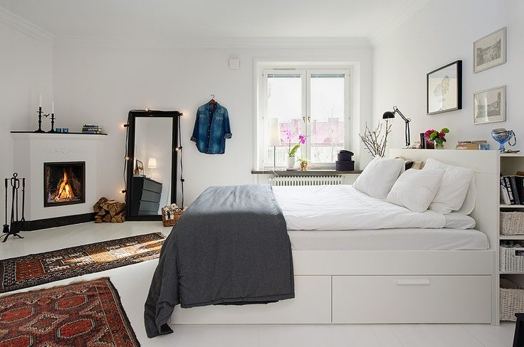The More I See Ikea S Brimnes Bed Frame Storage The More I It Scandinavian Design Bedroom Small Bedroom Remodel Small Bedroom